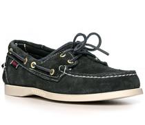 Bootsschuhe, Veloursleder, navy