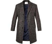 Mantel, Wolle, blau- meliert