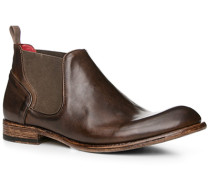 Schuhe Chelsea-Boots, Leder, marrone
