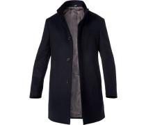 Mantel, Schurwolle, nachtblau