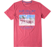 T-Shirt, Baumwolle, koralle gemustert