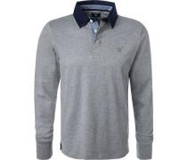Rugby-Shirt, Baumwolle, meliert