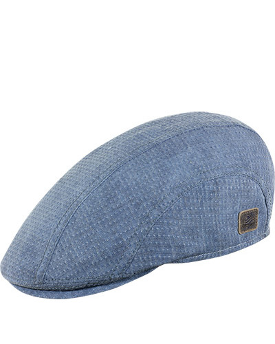 Mütze, Leinen, jeansblau