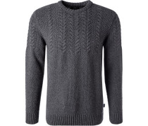 Pullover, Wolle-Baumwolle