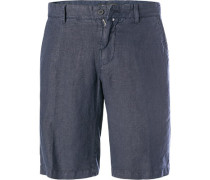 Hose Bermudashorts, Regular Fit, Leinen