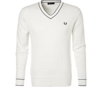 Pullover, Baumwolle, off white