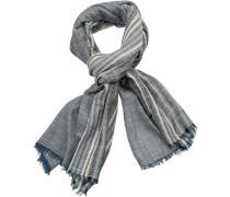 Schal, Baumwolle, -beige gestreift