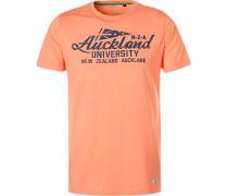 T-Shirt, Baumwolle, koralle meliert