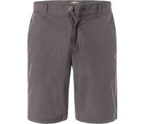 Hose Shorts, Baumwolle, graphit