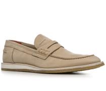 Schuhe Loafer, Kalbnubuk genarbt