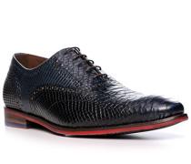 Schuhe Oxford, Kalbleder, dunkelblau