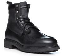 Schuhe Schnürboots, Leder-Textil warmgefüttert