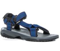 Schuhe Sandalen, Textil, capriblau