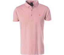 Polo-Shirt Polo, Baumwoll-Jersey, altrosa