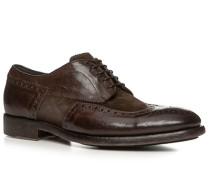 Schuhe Budapester, Kalb-Veloursleder gebrusht