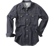 Hemd, Slim Fit, Jeans, dunkelblau