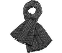 Schal, Wolle, schwarz- kariert