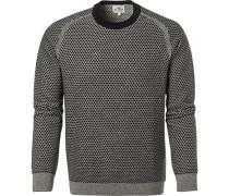 Pullover, Baumwolle, -weiß gemustert