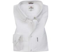 Hemd, Regular Fit, Oxford, weiß