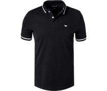 Polo-Shirt, Baumwoll-Piqué, navy