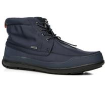 Schuhe Stiefeletten, Microfaser, dunkelblau