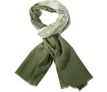 Schal, Baumwolle, olivgrün