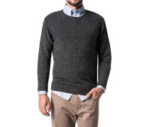 Pullover, Wolle-Mix, anthrazit meliert