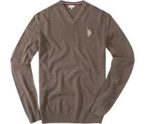 Pullover, Baumwolle, hellbraun