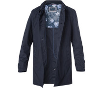 Mantel, Baumwolle halbgefüttert, nachtblau