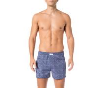 Boxershorts, Baumwolle, jeansblau gemustert