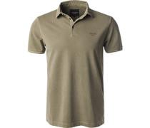Polo-Shirt Polo, Baumwoll-Pique, olivgrün