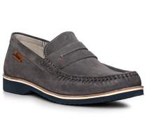 Schuhe Mokassins, Kalbveloursleder