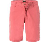 Hose Shorts, Baumwolle, koralle