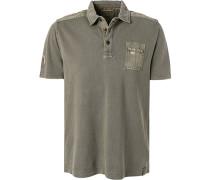 Polo-Shirt Polo, Baumwoll-Piqué, khaki