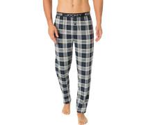 Pyjamahose Herren, Jersey-Baumwolle