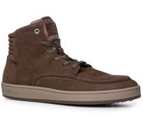 Sneaker-Schuh, Veloursleder, schokobraun