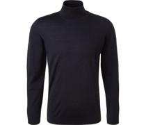 Pullover, extrafeine Merinowolle, nachtblau