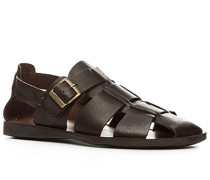 Schuhe Sandalen, Rindleder, dunkelbraun