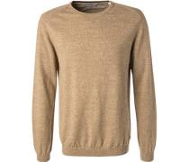 Pullover, Baumwolle, sand meliert