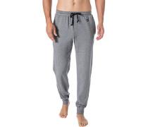 Pyjama-Hose, Baumwolle, hellgrau meliert