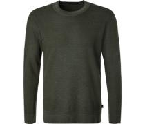 Pullover,Schurwolle, dunkelgrün