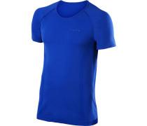 T-Shirt, Comfort Fit, Mikrofaser, royalblau