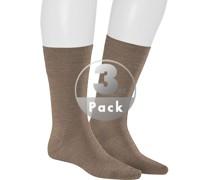 Socken Socken, Schurwolle, taupe