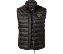 Jacke Steppweste, Regular Fit, Mikrofaser