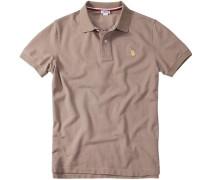 Polo-Shirt Polo, Baumwoll-Piqué, beigebraun