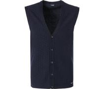 Pullover Weste, Baumwolle, nachtblau