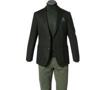 Sakko, Jersey, dunkelgrün-schwarz gemustert