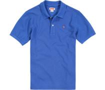 Polo-Shirt Polo, Baumwoll-Piqué, capriblau