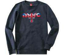 Sweatshirt, Baumwolle, marineblau