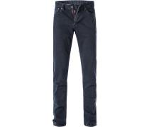 Jeans, Slim Fit, Baumwolle, dunkelblau